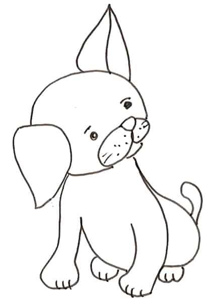 Cucciolo di cane disegno da colorare cose per crescere for Disegni da stampare e colorare di cani