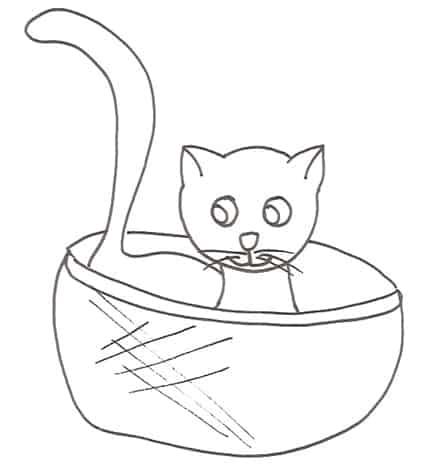 Disegno da colorare cucciolo di gatto tenerissimo cose - Gatto disegno modello di gatto ...