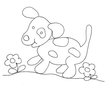 Disegno di cane pezzato cose per crescere for Immagini di cani da disegnare