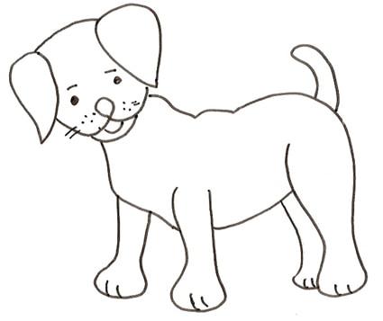 Disegno di cane in piedi cose per crescere for Disegni da stampare e colorare di cani