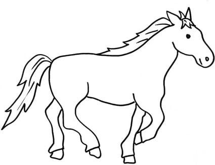 Disegno di cavallo che corre cose per crescere for Immagini di cavalli da disegnare