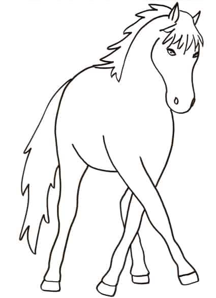 Cavallo da colorare cose per crescere for Immagini di cavalli da stampare