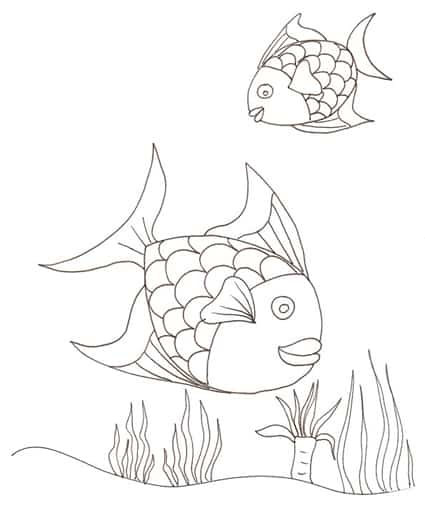 Due pesci for Immagini di pesci da disegnare