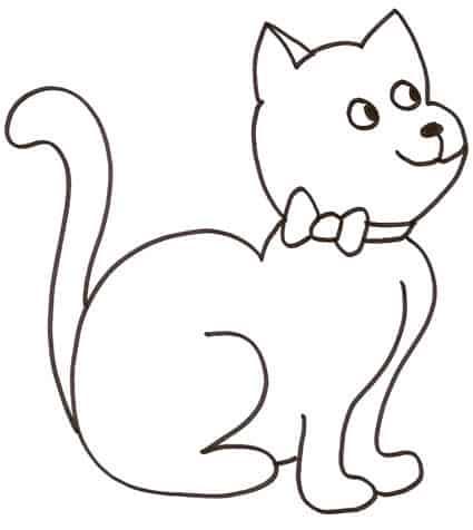 Immagini Di Un Gatto Da Colorare