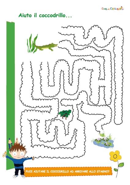 Il Labirinto Del Coccodrillo Cose Per Crescere