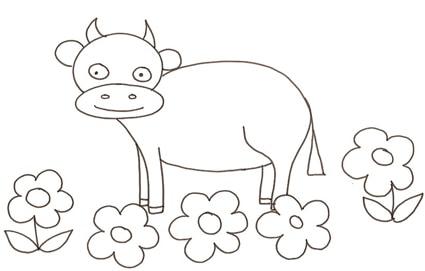 Mucca fiori - Immagini da colorare capra ...