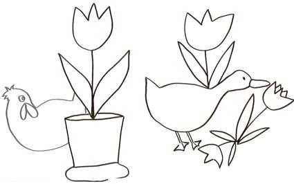 Oche E Tulipani Da Colorare Cose Per Crescere