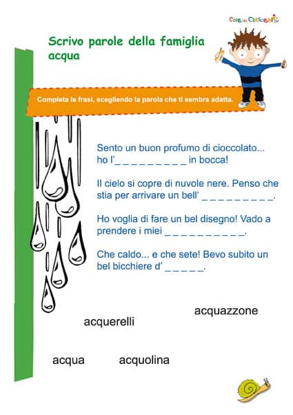 Esercizio italiano parole con cq scuola primaria for Parole con scu per bambini