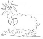 Disegno di pecora al sole