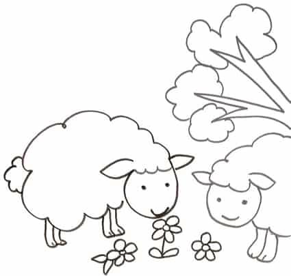Pecorelle Da Stampare E Colorare Cose Per Crescere