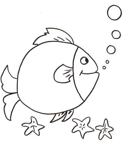 Pesce che fa le bolle da colorare cose per crescere for Pesci da colorare per bambini