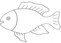 Disegni di pesci da colorare e da stampare gratis for Pesci da colorare e ritagliare