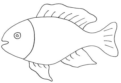 Pesce grande for Disegni da colorare pesciolini