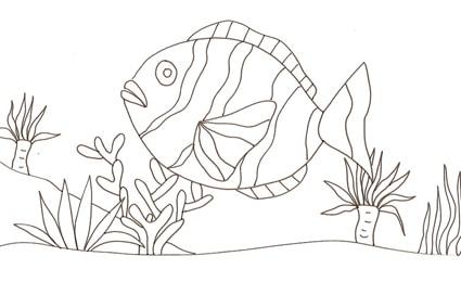 Pesce pagliaccio da colorare cose per crescere for Disegni di pesci da stampare