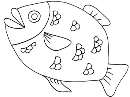 Grosso pesce con scaglie da colorare cose per crescere for Pesce disegno da colorare