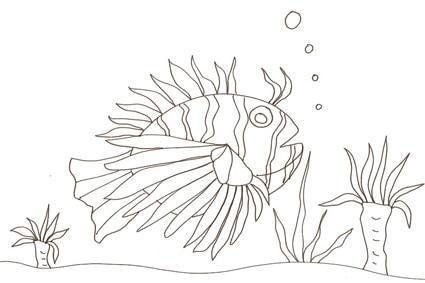 Disegno di uno strano pesce cose per crescere for Pesci da colorare e stampare per bambini