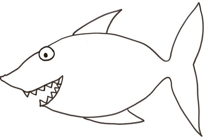 Squalo for Disegni pesciolini da colorare