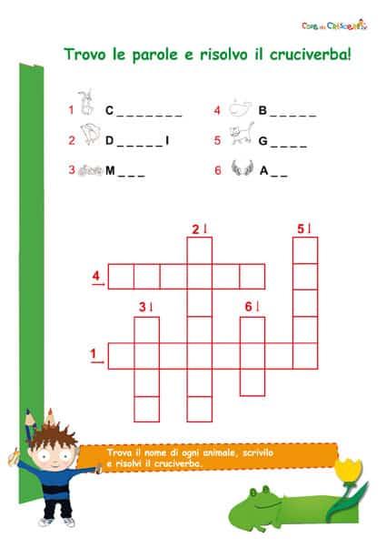 Esercizio italiano parole con cq scuola primaria for Parole con scie per bambini