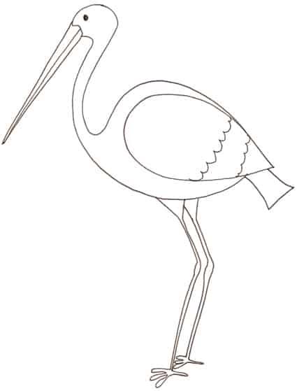 cicogna disegno da colorare