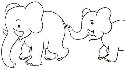 Elefantini Da Colorare Cose Per Crescere