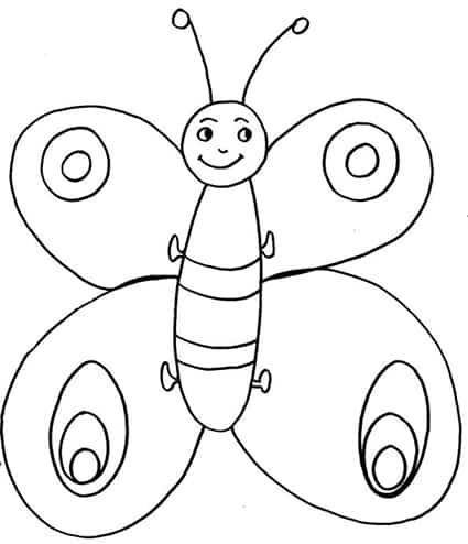 Disegni Da Colorare Per Bambini Farfalla Fredrotgans