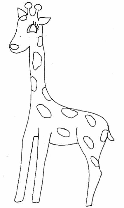 Cucciolo Di Giraffa Da Colorare Cose Per Crescere