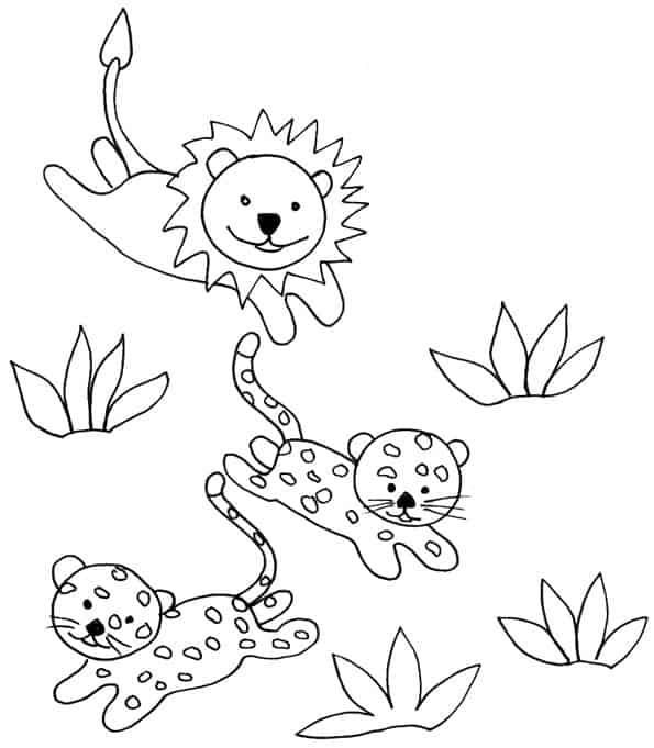 Leoncini e ghepardini - Cucciolo da colorare stampabili ...