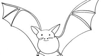 Pipistrello Da Colorare Cose Per Crescere