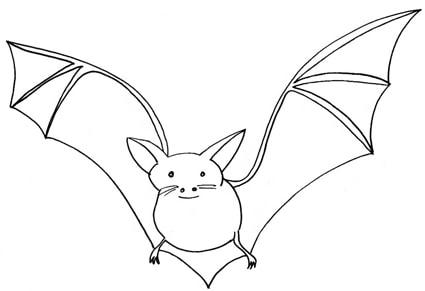 Pipistrello - Contorno immagine di pipistrello ...