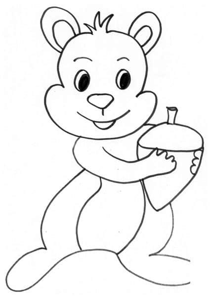 Scoiattolo ghianda - Immagini di animali dello zoo per bambini ...