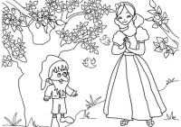Disegni Di Biancaneve E I Sette Nani Da Colorare Immagini Da