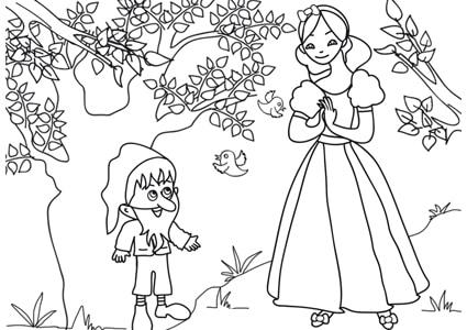 Disegni Di Biancaneve E I Sette Nani Da Colorare Immagini Da Stampare