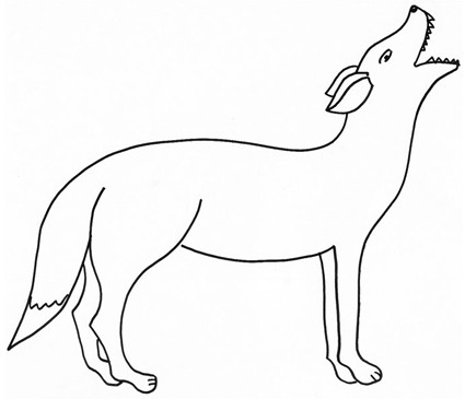 Disegno di coyote da colorare cose per crescere for Lupo disegno a matita