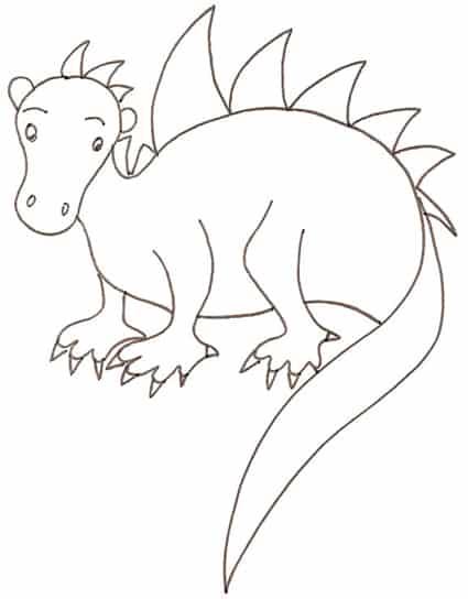 Cucciolo di dinosauro da colorare cose per crescere - Cucciolo da colorare stampabili ...