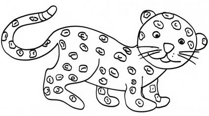 Cucciolo di giaguaro da colorare cose per crescere - Cucciolo da colorare stampabili ...