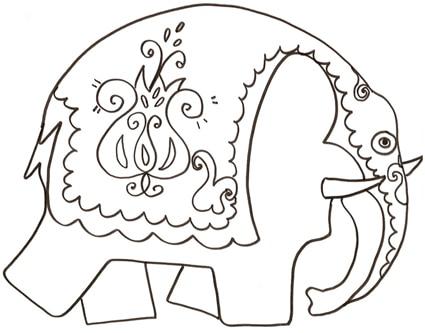Disegno Di Un Elefante Indiano Cose Per Crescere