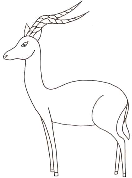 disegni di impala da colorare