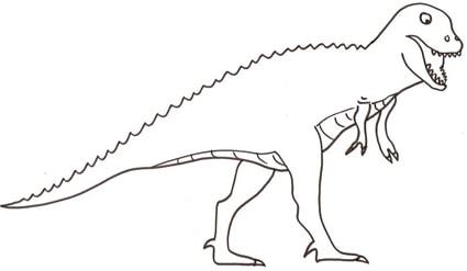 T Rex Disegni Da Colorare.Grande T Rex Da Colorare Cose Per Crescere