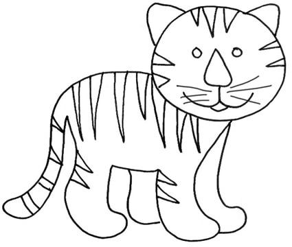 Tigrotto da colorare cose per crescere for Disegni di tigri da colorare