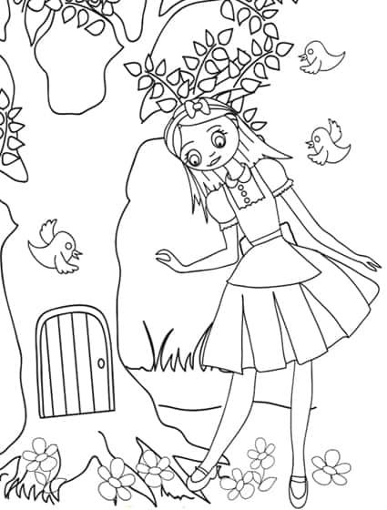 Alice Insegue Il Coniglio Bianco Disegno Da Colorare Cose Per