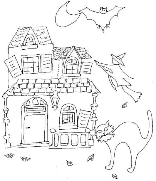 Casa delle streghe da colorare cose per crescere for Disegno della casa
