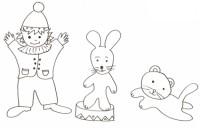 Clown-gatto-coniglio
