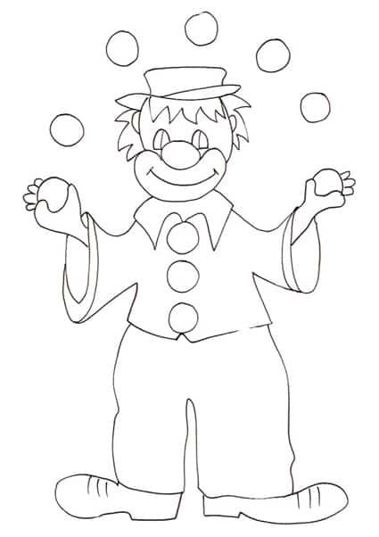 Disegno di clown for Disegno pagliaccio da colorare