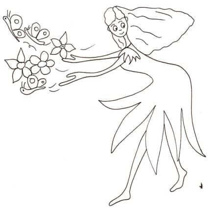 Fata farfalle - Fata immagine da colorare ...