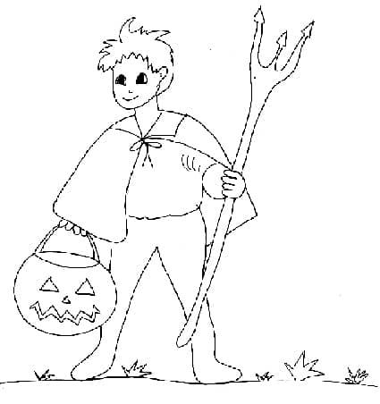 jack-o'lantern disegno da colorare