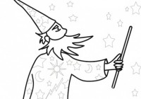 Disegno di mago merlino - Nomi cavalieri tavola rotonda ...