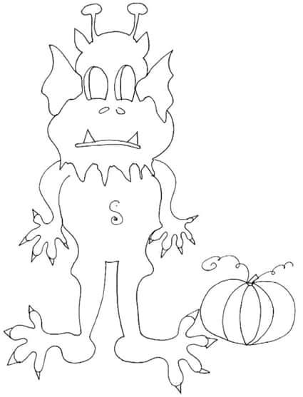 Disegno di mostro da colorare per Halloween