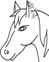 Disegni Da Colorare Testa Di Cavallo.Pollicino Parla Con Il Cavallo Cose Per Crescere