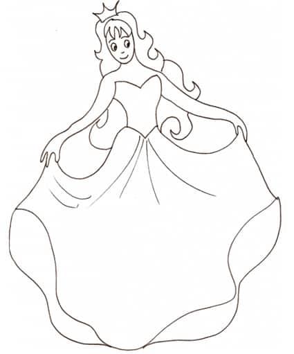 Principessa Al Ballo Da Colorare Cose Per Crescere
