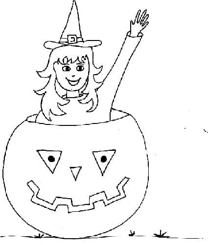 Disegno Halloween da colorare